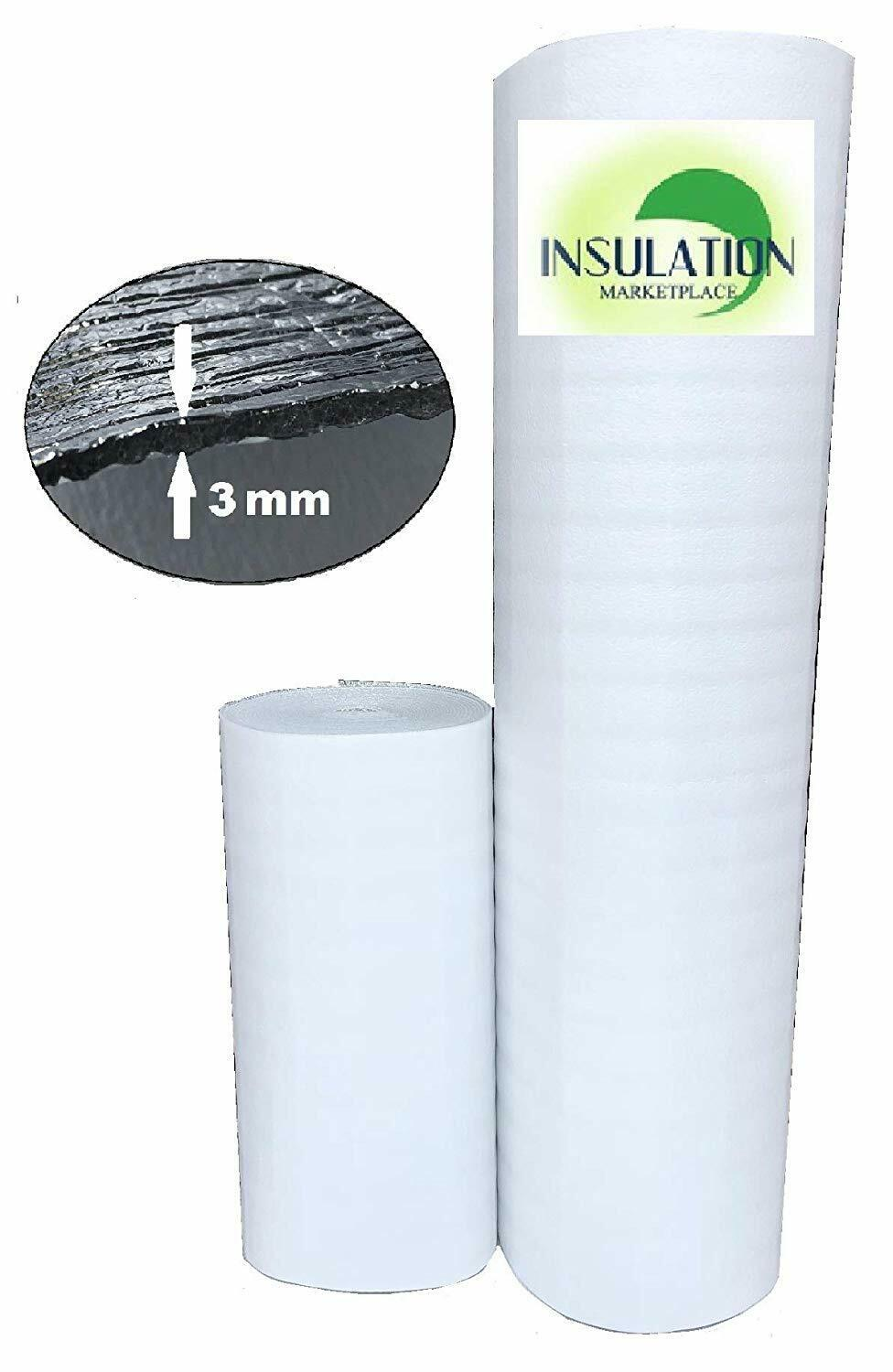US Energy 3MM Reflective Foam Core Insulation RADIANT BARRIER  48/'/'X100ft roll